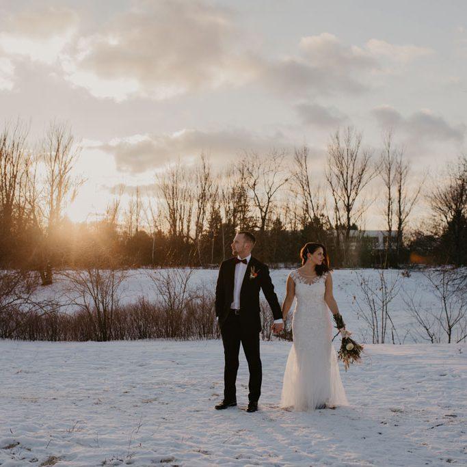 Afterwedding im tiefen Schnee